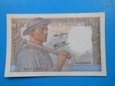 10 francs mineur 9-9-1943 F8/9 SUP