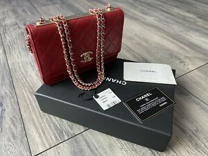 NWT Chanel Mini Bag Dark Red 17A A80982Y04059