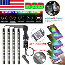 48LED RGB Car Interior Atmosphere Light Strip Bluetooth APP Control LED Strip