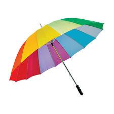 Paraguas grande golf Arco Iris Multicolor durable fuerte tormenta a prueba de viento Sombrilla
