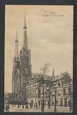 Delft  Burgwal met R. K. Kerk