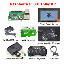 Raspberry Pi 3 16GB Starter Display Kit with 7 inch Touch Screen Acrylic Mount