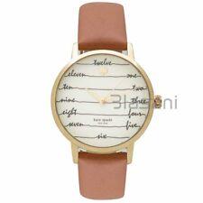 Kate Spade Original KSW1237 Women's Chalkboard Metro Brown Leather Watch 34mm