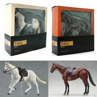 Figma 246ab White Brown Horse Action Figure 16cm High New Kid Brithday Gift