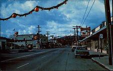 Cloverdale California USA ~1960/70 Citrus fair decorations over main street Auto