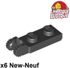 Lego - 6x Hinge Hinge Flat Lock 1x2 Black/Black 44302 44301 New