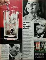 Beefeater Gin The One That's extra Distilled Pssst… Beefeater! Vintage Ad 1964
