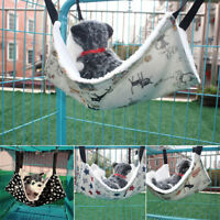 GN- CUTE RABBIT CHINCHILLA CAT CAGE HAMMOCK SMALL PET DOG PUPPY BED COVER BLANKE