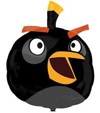 "Black Angry Birds Movie Birthday Party Decoration 23"" SuperShape Mylar Balloon"