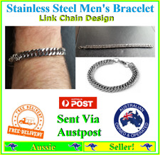 Men's Stainless Steel Chain Link Bracelet Wristband Jewelry Jewellery NEW