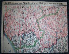 GERMAN - Weekly War Situation Map. Nr. 186, (18/1918). D.R.G.M. War Help Charity
