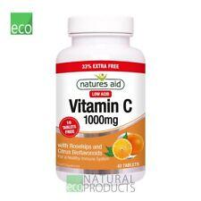 Natures Aid Vitamina C 1000 mg 40 comprimidos con ROSEHIPS y bioflavonoides cítricos