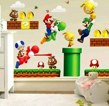 Super Mario Brothers Wall Decal 3D Stickers Mural Childs Room Nursery Decor Easy