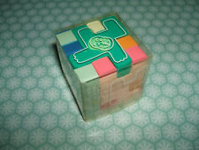 Rare Vintage 1980s SEED Animal Puzzle Cube eraser rubber gomme gommine