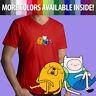 Adventure Time Finn Jake Napping Sleep Cartoon Mens Unisex Tee V-Neck T-Shirt