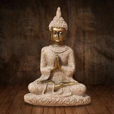 Résine Hue Grès Méditation Statue Bouddha Sculpture Figurine Figure Décor Maison