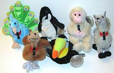 Coke Coca-Cola Plush Lot of 6 New 1999 Nwt International Collection Beanbags