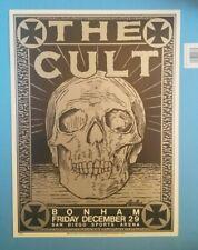 "- The Cult - Bonham San Diego Concert Poster by Kozik Dec.1989 19"" x 14"""