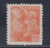 ESPAÑA (1939) NUEVO SIN FIJASELLOS MNH - EDIFIL 873 (60 cts) FRANCO - LOTE 1