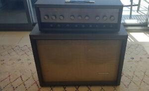 Vintage 1960's Silvertone 1484 Twin Twelve Amplifier Head + Cabinet