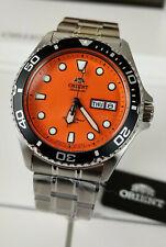 Orient Automatik Ray II 2 FAA02006M9 Armbanduhr Herren Sports Uhr orange Datum