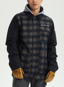 Brand New Mens 2021 Burton Dunmore Jacket True Black Heather Buffalo Plaid