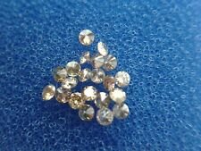 0,104 cts total lot x 10 Fancy champagne diamonds diamants SI1 1,30mm-1,40mm