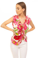 RRP €130 JOIS INTERNATIONAL Top Blouse Size 46 Silk Blend Floral Made in Italy