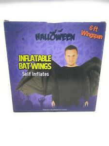 Halloween self Inflatable Bat Wings -Approx. 6 ft wingspan Costume Outfit