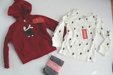 Gymboree Holiday Penguin Chalet Girls Size 3-4 Fleece Jacket 3 Leggings Top NWT