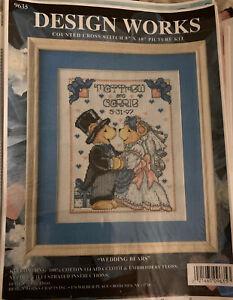 Wedding Bears Marriage Sampler - Design Works Cross Stitch Chart