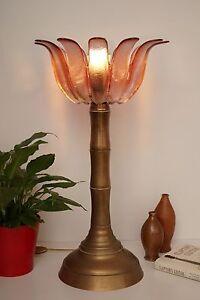 "Seltene original 70er Jahre Design Lampe Deckenfluter ""BAMBOO"" Messing Retro"