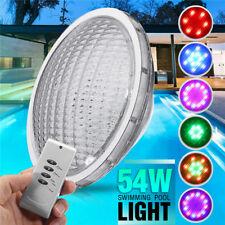 54W RGB 18 LED Edelstahl Poolbeleuchtung Teichbeleuchtung Unterwasser Schwimmbad
