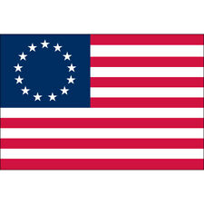 Betsy Ross Flag 3' x 5' Outdoor Nylon Fully Sewn Embroidered Stars USA Made Eder