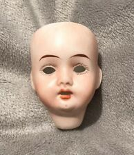 Miniature Bisque Doll Head 21 Germany R 13/0 No Eyes Open Mouth w/ Teeth 2 1/4''