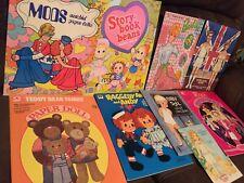 1980s/ Late 70's Vintage paper dolls lot Of 8 Barbie Mod Uncut