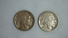 1913-P-Ty1 & 1913-D-Ty1 Buffalo Nickels- 2 Coin Year Pair- 5C