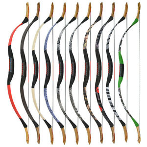 25-55lbs Traditional Longbow Recurve Bow Horse Riding  Archery Shooting Hunting