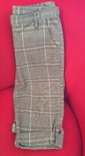 Fashion Capri Plaid Ladies Pants Importer From Italy New Sz 40 Perfect Fit