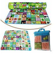 2 SIDED KIDS PLAY MAT CARPET EDUCATIONAL GAME CRAWLING BABY SOFT FOAM PLAY MAT