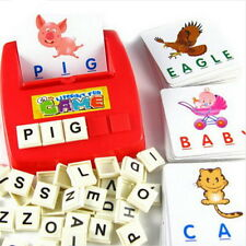 Children's Figure Spell Game Platter Puzzle Spell Words Early Learning Toys Xd