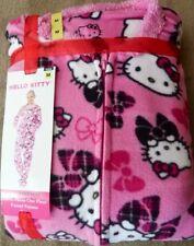 NEW Sanrio HELLO KITTY Pink Footed Pajamas Footie Sleeper Fleece M LTD HTF