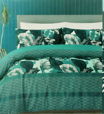 Palm leafs Tree Quilt Cover Set Green Tropical Spring Bedding COVER Size DOUBLE