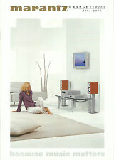 MARANTZ HIFI catalogue prospectus 03/04 sr9300 ma6100 dv8400 pm7200 cd7300 st6000