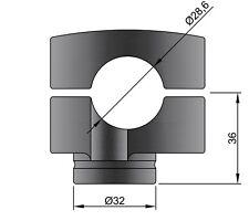 coppia Adattatori Rialzi per Manubrio 28 mm Riser Risers HONDA KTM SUZUKI YAMAHA