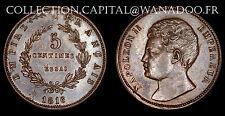 France / Essai 5 centimes 1816 Napoléon II Bronze Maz 643