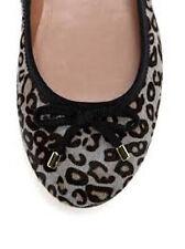 Elorie Rickey Ballet Flat Gray Leopard  Haircalf Print fits 9.5 RV $195