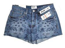 William Rast Somewhere Breezie Denim Shorts Embroidered Sz 26 MSRP $69.50 Junior