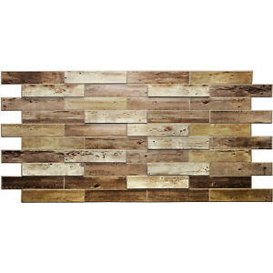 PVC Wall Panels 3D Decorative Wall Covering Tile Cladding Wood Effect 0.94m2