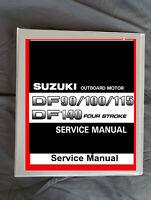 Suzuki DF90-100-115-140 outboard boat 4 stroke motor service workshop manual
